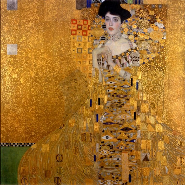 """Das Bildnis Adele Bloch-Bauer I, auch """"Goldene Adele"""" genannt, ist ein Gemälde von #GustavKlimt (1862–1918)"""